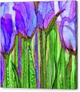 Tulip Bloomies 2 - Purple Canvas Print