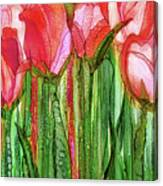 Tulip Bloomies 2 - Red Canvas Print