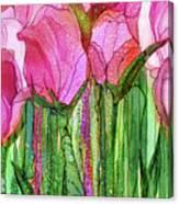Tulip Bloomies 3 - Pink Canvas Print