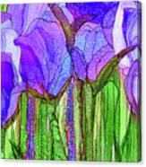 Tulip Bloomies 3 - Purple Canvas Print