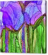 Tulip Bloomies 4 - Purple Canvas Print