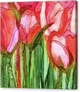 Tulip Bloomies 4 - Red Canvas Print