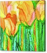 Tulip Bloomies 4 - Yellow Canvas Print
