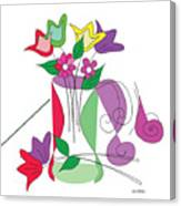 Tulip - Scribble Collection Canvas Print