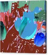 Tulipani Blu E Corallo Canvas Print