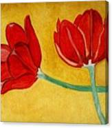 Tulips And Love Happy Together Canvas Print