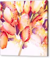 Tulips Are People Iv Canvas Print