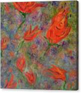 Tulips- Floral Art- Abstract Painting Canvas Print
