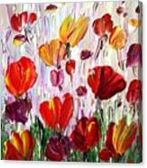 Tulips Flowers Garden Seria Canvas Print