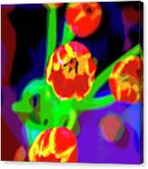 Tulips In Abstract Canvas Print