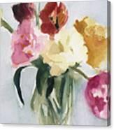 Tulips In My Studio Canvas Print