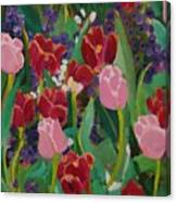 Tulips In The Capitol Canvas Print