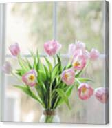Tulips On The Window Canvas Print