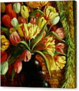 Tulips With Apple Canvas Print