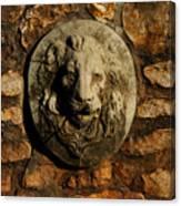 Tulsa Rose Garden Lion Fountain #1 Canvas Print
