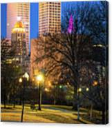 Tulsa Towers From Centennial Park Canvas Print
