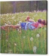 Tumble In The Grass Canvas Print