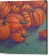 Tumbled Pumpkins Canvas Print