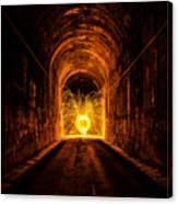 Tunnel Sparks Canvas Print