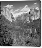 Tunnel View Bw Canvas Print