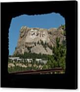 Tunnel View Mt Rushmore 2 A Canvas Print