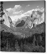 Tunnel View Shadow Bw Canvas Print