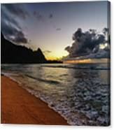 Tunnels Beach Sunset Canvas Print
