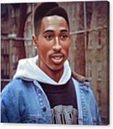 Tupac Shakur Drawing Canvas Print