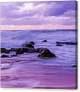 Turbulent Daybreak Seascape Canvas Print