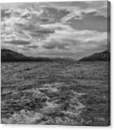 Turbulent Loch Ness In Monochrome 2 Canvas Print