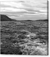 Turbulent Loch Ness In Monochrome Canvas Print