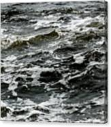 Turbulent Water Near The Shore Canvas Print