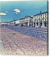 Turin, Square Vittorio. Canvas Print