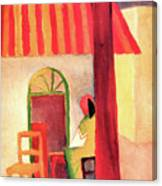 Turkish Cafe By August Macke Canvas Print