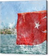 Turkish Flag Canvas Print