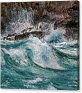 Turmoil In Blue Canvas Print