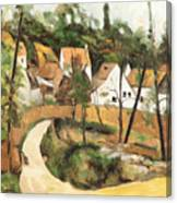 Turn In The Road Reproduction Of Cezannes Work. Canvas Print