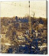 Turn Of The Century Dyckman Street Panorama Canvas Print