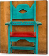 Turquoise And Red Chair Canvas Print