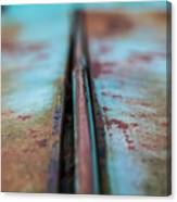 Turquoise And Rust Abstract Canvas Print