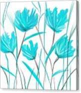 Turquoise Bloom Canvas Print