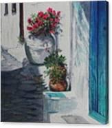 Turquoise Door Canvas Print