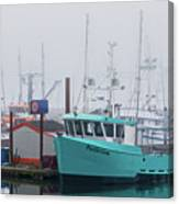 Turquoise Fishing Boat Canvas Print