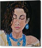 Turquoise Lady 1 Canvas Print