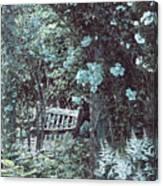 Turquoise Muted Garden Respite Canvas Print