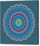 Turquoise Necklace Mandala Canvas Print
