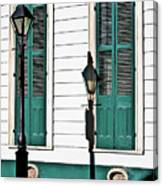 Turquoise Shutters Canvas Print