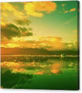 Turquoise Sunrise Canvas Print