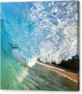 Turquoise Wave Tube Canvas Print