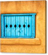 Turquoise Window Shutter Canvas Print